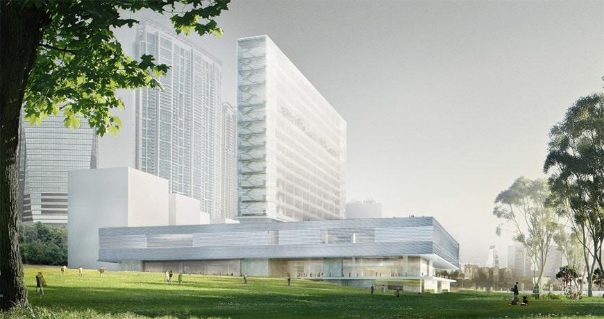 M+Museum a Hong-Kong, rendering