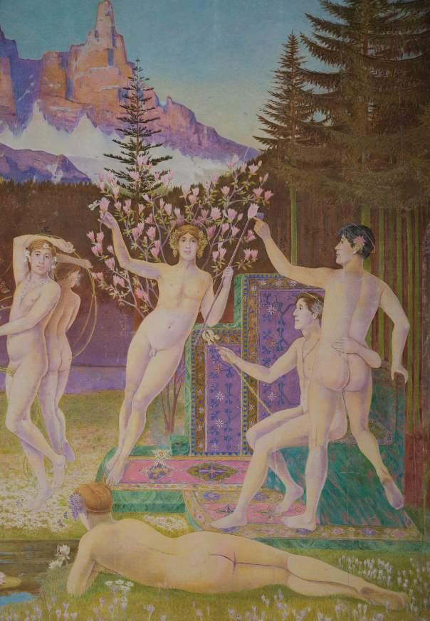 Elisàr von Kupffer, Il chiaro mondo dei beati, 1924-1939. Foto Claudio Berger. Courtesy Fondazione Monte Verità